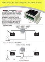 Raptor Bridge - Motorbatterie und die Servicebatterie parallel laden