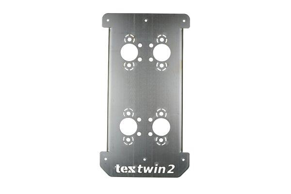 TWIN Doppel - Einbauflansch EVO, bis 90mm