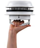 Maxxfan Dome Plus Dachlüfter Seitenwandlüfter 12 V mit LED Schwarz