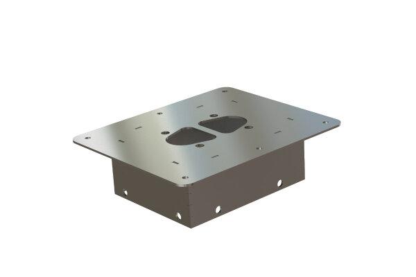 Ein Einbauflansch / Bodenhalter für Luftheizungen 50mm