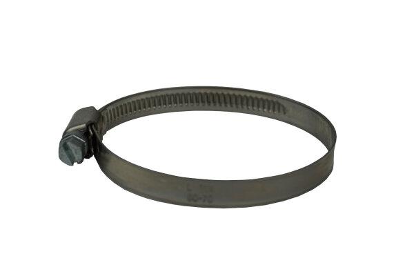 Schlauchschelle, Schneckengewindeschelle, Bandbreite 9 mm, 50-70mm Spannbreite / W4  Edelstahl